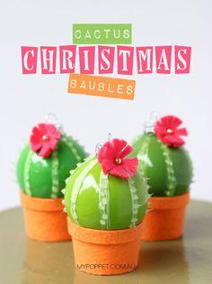 DIY Cactus Christmas Decorations