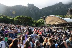 Stunning Kirstenbosch Summer sunset concerts take place in the beautiful botanical garden in Cape Town. See the line-up and book your tickets Summer Sunset, Cape Town, Botanical Gardens, South Africa, Dolores Park, Summer Concerts, Places To Visit, Trips, Bucket