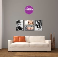 Another wall layout idea. (2 16×24 & 2 10×20 gallery wrapped canvases)
