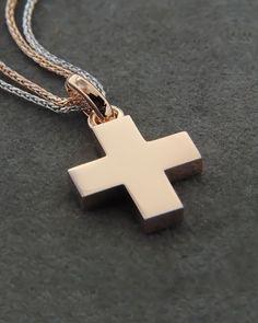 Σταυρός βαπτιστικός ροζ χρυσός