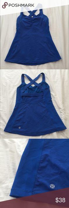 Lululemon cross back top blue size 8 Excellent condition! lululemon athletica Tops Tank Tops