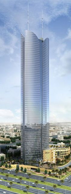 Burj Rafal, Kempinski Hotel, Ryadh, Saudi Arabia by P&T Group Architects :: 68 floors, height 308m