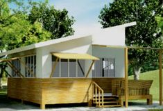 The ECO-JAO Bahay Kubo is a modern interpretation of the vernacular Filipino architecture Bungalow Homes, Bungalow House Design, Prefab Cabins, Prefab Homes, Filipino Architecture, Bamboo House Design, Philippine Houses, Bahay Kubo, Building Layout