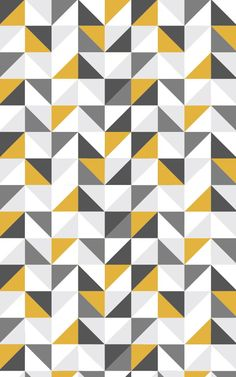 Introduce fresh tones and modern design to your contemporary space with this mustard & grey wallpaper, a geometric print. Geometric Wallpaper Murals, Grey Wallpaper, Wallpaper Decor, Pattern Wallpaper, Geometric Patterns, Geometric Shapes, Classic Wallpaper, Geometric Designs, Graphic Patterns