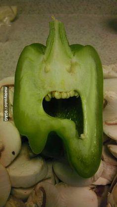 I was cutting a pepper...