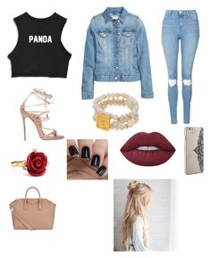 """""""Untitled #187"""" by chase-banner on Polyvore featuring Topshop, Dsquared2, Givenchy, Nanette Lepore, Oscar de la Renta and Lime Crime"""