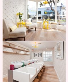 The Dry Bar, their branding and interior design is so perfect.
