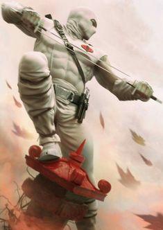 G.I. Joe - Stormshadow by Alessandro Baldasseroni  www.eklettica.com