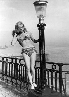 Diana Dors in Folkestone, 1958.