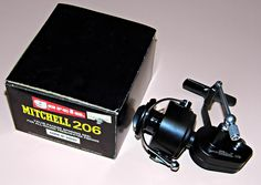 Vintage Garcia Mitchell 206 Spin Cast Fishing Reel, Made In France.