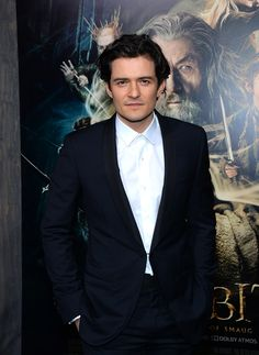 Orlando Bloom. He has Stressed-Out Hero In Period Film hair right now.
