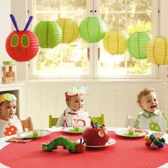 Very Hungary Caterpillar party... love the paper lantern forming the caterpillar!!
