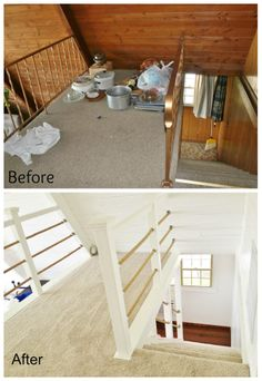 a-frame kitchen remodel. refaced the cabinetsadding trim and