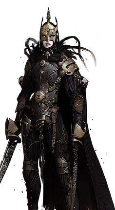 Women warrior concept character