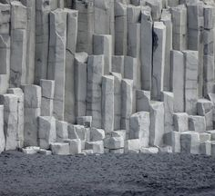 The basalt rock columns atVík in Mýrdal, South Iceland, is a true work of art made by nature itself. Stunning formations rise from the black beach hosting black sand made by volcanic magma. It is a beautiful sight worth seeing, when you travel here on vacation. Make sure to take for great photos, as it is good postcard material.