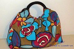 Luz Weber: Molde de bolsa - Bolsa de mão estampada floral - primeiras bolsas