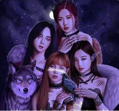 Fan Art, Fanart Bts, Black Pink Kpop, Blackpink Memes, Blackpink Photos, Kpop Drawings, Vampire, Blackpink Jisoo, Blackpink Jennie