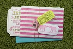 Circus / carnival birthday party Invite