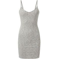 Grey Strappy V Neck Ribbed Mini Dress (685 PHP) ❤ liked on Polyvore featuring dresses, grey dress, bodycon mini dress, body con dress, grey bodycon dress and short bodycon dresses