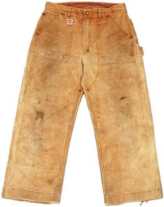 Hamilton Carhartt | double knee work pants | duck canvas | Dearborn, Michigan, U.S.A. | c. 1940