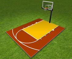 Basketball court on pinterest home basketball court for How much does a half court basketball court cost