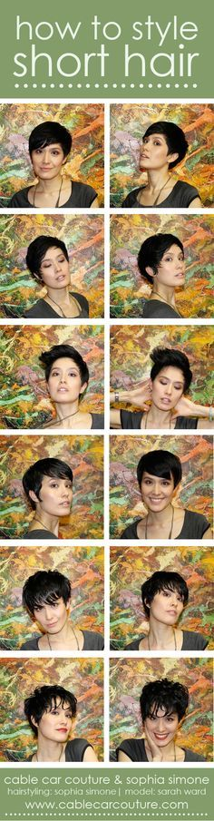 How to style short hair: 6 ways to style 1 haircut. [cable car couture & sophia simone]