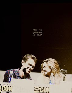 I am very protective of Shai in real life, I don't even let her to go to the bathroom by herself. - Theo James