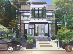 By Pralinesims Found in TSR Category 'Sims 4 Residential Lots' Lotes The Sims 4, The Sims 4 Skin, Sims Cc, Sims 4 House Plans, Sims 4 House Building, Sims 4 Beds, Minecraft House Tutorials, Sims 4 House Design, Casas The Sims 4