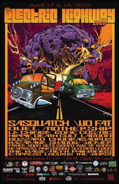Music event in Calgary, AB, Canada by The Electric Highway and 2 others on Friday, April 17 2020 with 284 people interested and 128 people going. Stoner Rock, Palomino, Art Festival, Local Artists, Calgary, Blues, Electric, Abs, Canada