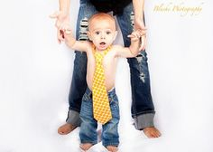 Love a (daddy's) tie for a little guy, high heels for a little lady. Great picture idea