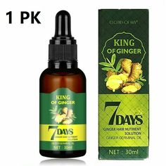 Hair Growth Serum Regrow 7 Day Ginger Germinal Hairdressing Oil Loss Treatment - 1 PK