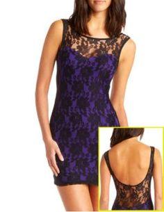 Charlotte Russe - Pop-Lining Lace Dress, $29.99