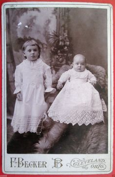 Vintage Cabinet Card Photo Cute Toddler and Adorable Infant Baby Antique Dresses | eBay