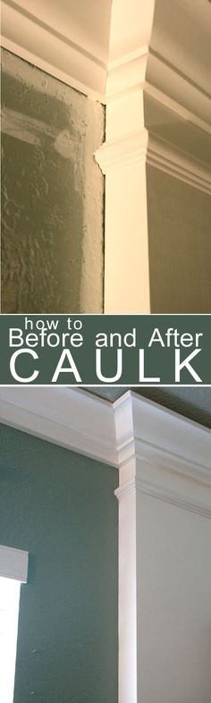 How to Caulk Moldings! #caulk #moldings #DIY - the tip about painting over the caulk is right on.  #caulking #painting #tipsandtricks