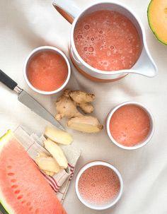Gaspacho pastèque-melon pour 4 personnes - Recettes Elle à Table