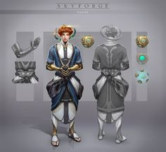 An NPC concept i made for Skyforge MMO - Gerida.