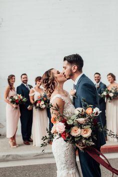 Bohemian Luxe California Wedding at Casino San Clemente | Junebug Weddings