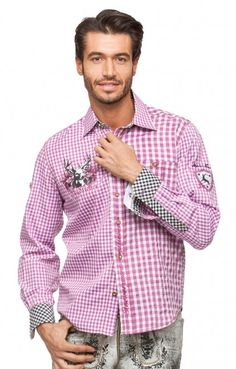 Chequered Oktoberfest Shirt RYAN berry