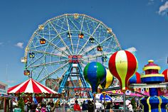 Coney Island. Is there anywhere happier than an amusement park? #ridecolorfully