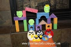 for my angrybird addicts...i've also seen this idea with foam modeling clay instead of beanbags.