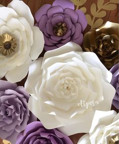"""405 Likes, 9 Comments - Paper Flowers🍀Flores De Papel (@shopoliposa) on Instagram: """"One of my faves to date 💜💜💜#paperflowers #paperflowerwall #flowerwall #nursery #bedroom #homedecor…"""""""