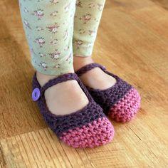 Chloe Slippers (Newborn - Small Child Sizes) Crochet Pattern. $5.50, via Etsy.