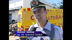 SBT Brasil (12/02/16) SP: Perseguição policial termina em grave acidente...