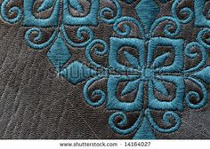 detail of embroidery on leather by Nicole Gordine, via ShutterStock Leather Embroidery, Photo Editing, Royalty Free Stock Photos, Kids Rugs, Shoe, Pillows, Detail, Illustration, Inspiration