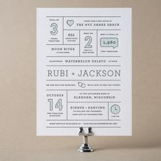 Year In Review Wedding Invitation Design