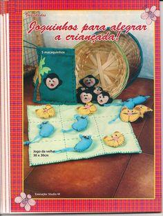 Revistas de Fieltro gratis: Revista de fieltro gratis Tic Tac Toe, Lunch Box, Diy, Teddy Bear, Cover, Felt Boards, Sites, Craft Items, Diy Creative Ideas