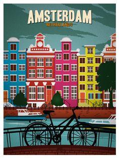Vintage Amsterdam Print | Idea Storm Media