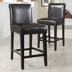 Home Creek Upholstered Barstools - Set of 2