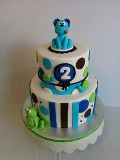 frogs, snails and puppy dog tails 2nd birthday - Cake by Cake That Bakery