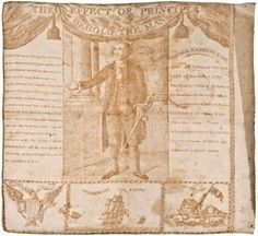 """Washington RelatedAmerican Printed Cotton Kerchief Listed as Number 38 In """"Threads of History"""" Circa 1806 Germantown . on Aug 2012 Vintage Bandana, Kerchief, Early American, Printed Cotton, American History, Vintage World Maps, Auction, Tapestry, Prints"""